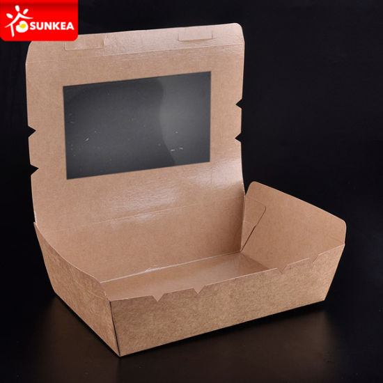 Fast Food Paper Packaging Box Window