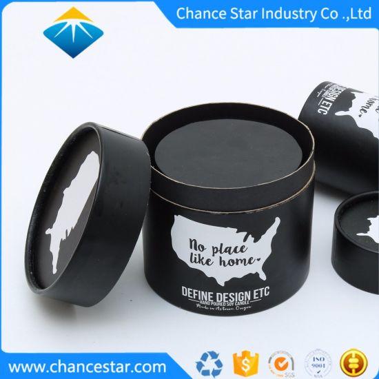 Custom Black Paper Kraft Cardboard Tube for Jar Packaging