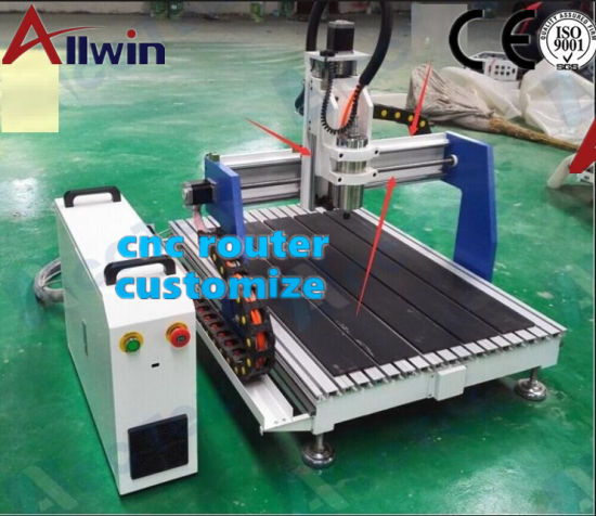 Mini 6060 Desktop CNC Router Engraving Machine with Rotary Axis 600mmx600mm pictures & photos