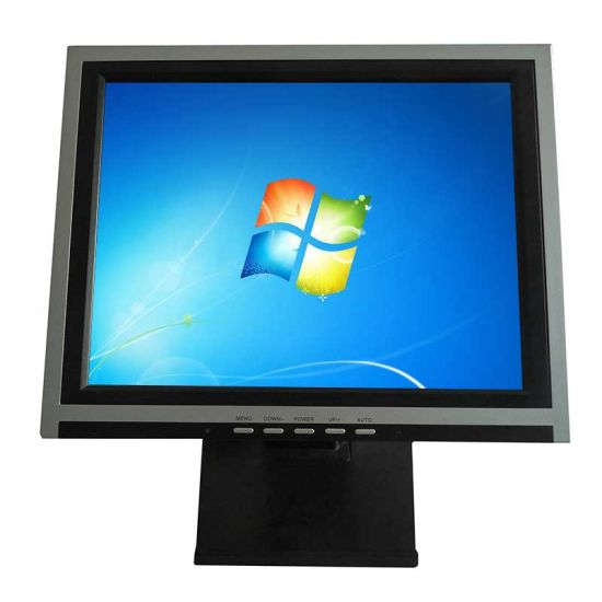 """10.4"""" 12"""" Inch VGA TFT LCD Touch Screen Monitor with POS Base (Black color)"""