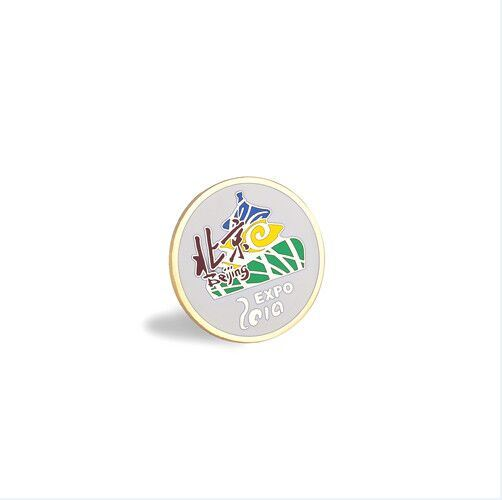 China Engraved Pin Custom Volunteer Metal Printing Badge (GZHY-CY