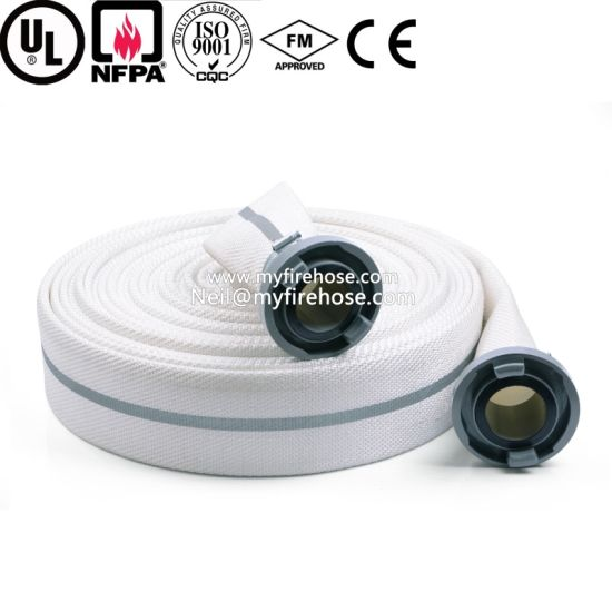 2 Inch Double Jacket Ageing Resistance of PU Cotton Canvas Fire Hose pictures & photos