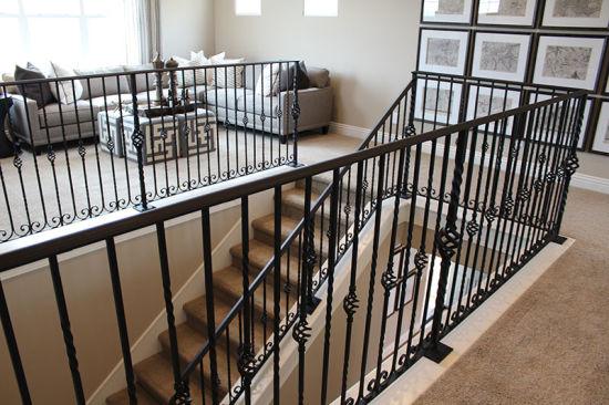 Metal Steel Handrail Balcony Balustrade Wrought Iron Railing