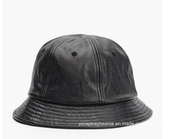 ... meet 5f772 085c9 China Custom Logo Cool Blank Cypress Hill Mens Black  Leather Bucket. Cypress ... 710e7c3ac121