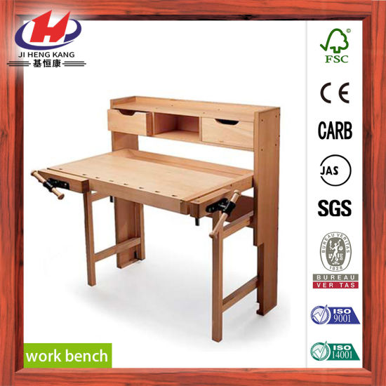 Finger Joint Solid Wood Work Bench pictures & photos