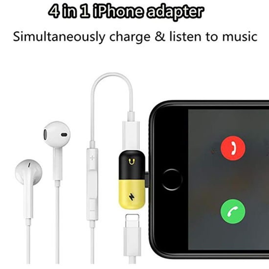 sports shoes 72e60 08639 2 in 1 Dual Lightning Audio Headphone Charge Splitter Adapter for iPhone X  8+ 8 7 7+ with Retail Package