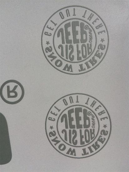 Custom made with reflect labels reflective heat transfer stickers