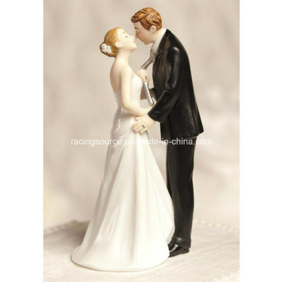 Funny Tie (ing) The Knot Wedding Cake Topper Resin Figurine