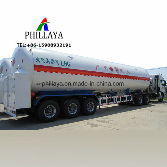 Phillaya Exporting 57 Cbm Gas Tanker Storage LNG Trailer pictures & photos