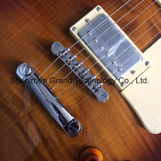 DIY Lp Guitar Kit / Flame Maple Top Abalone Inlaid Lp Electric Guitar (GLP-193) pictures & photos