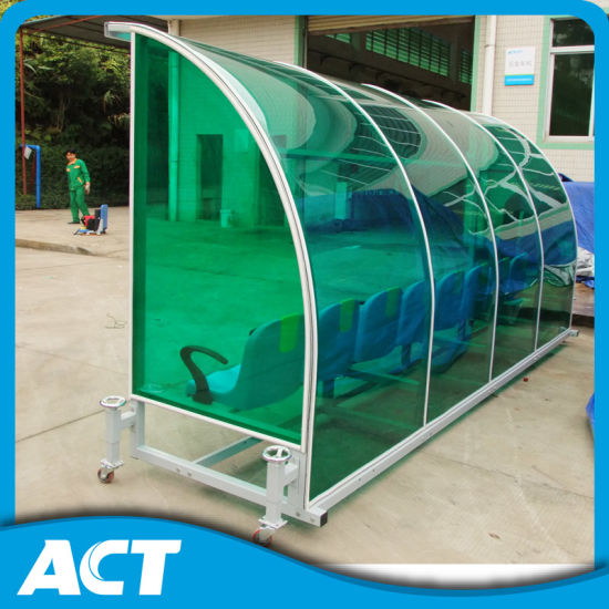 Outdoor Portable Football Team Shelter /Player Seats with Aluminum Bench pictures & photos