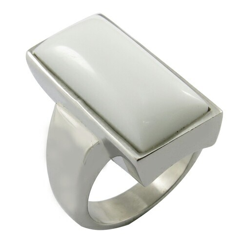 White Glass Stone Square Shape Rings pictures & photos