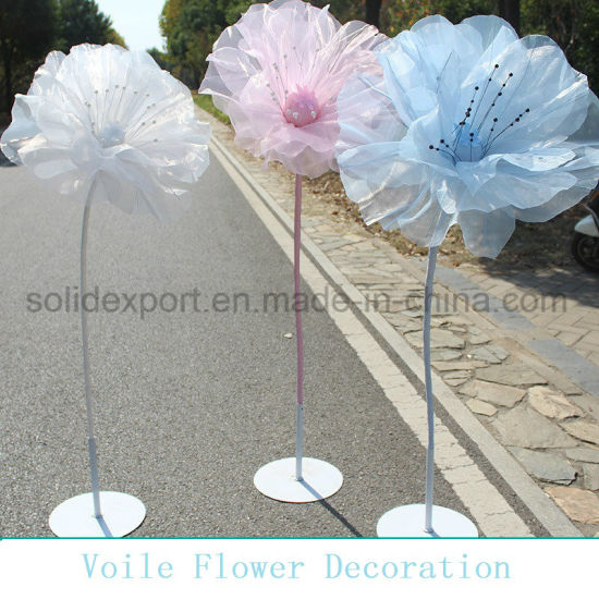 Handmaking Voile Flower Props Decoration for Wedding Shop Window Display Decoration