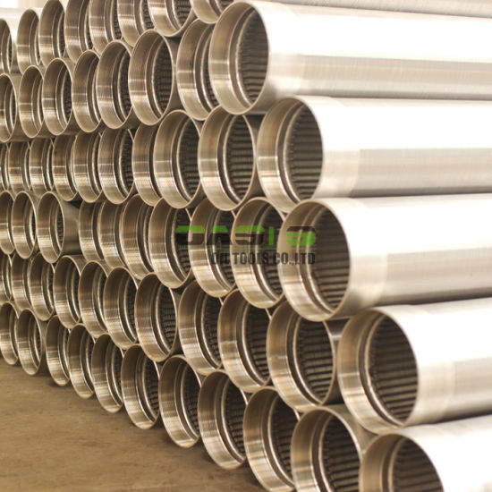 20 Slot Stainless Steel Wedge Wire Screen Tube Johnson Screen Filter