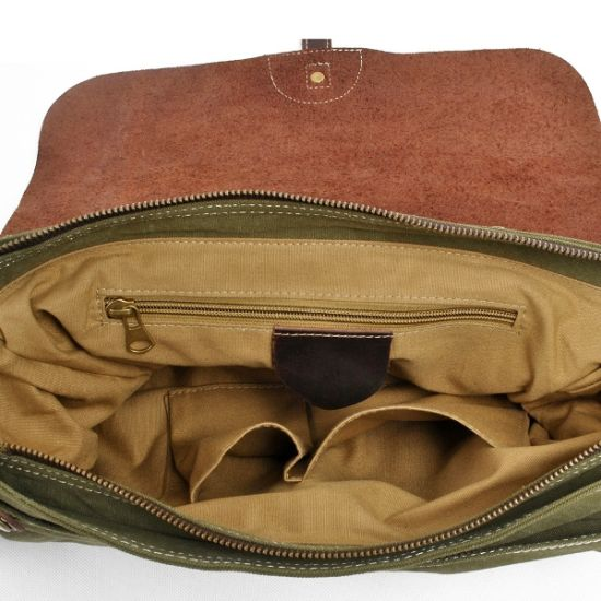 100% Cotton Canvas Messenger Man Shoulder Laptop Satchel Bag (RS -6001P) pictures & photos