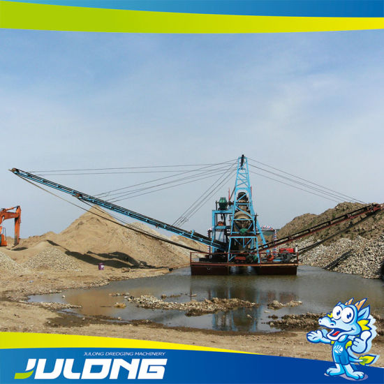 China Mechanical Sand Dredging Dredge Machine with Chains of