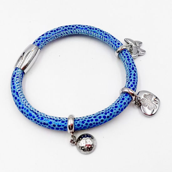 Hot Sell Stingrag Leather Bracelet with Custom Made Charms pictures & photos