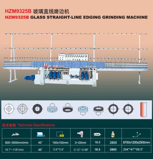 9 Spindles Flat Glass Straight Line Edging Machine Tn126