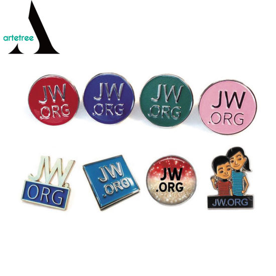 China Factory Supplier Metal Enamel Jw  Org Pins Labels - China Jw