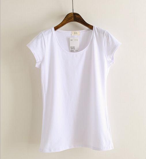 China Customize Personalized 100 Cotton Women Blank Tee Shirt
