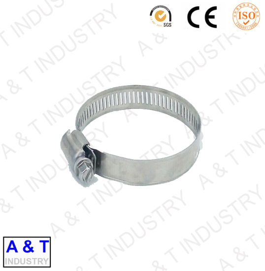 Thickness 1.5mm Steel Galvanized Rubber M10 Nut Metal Hose Clamp pictures & photos