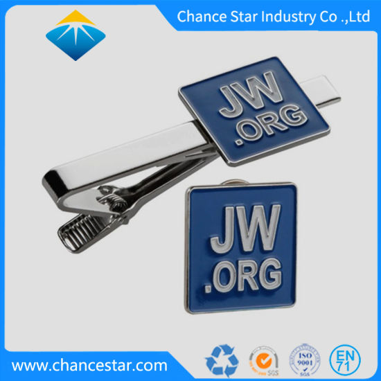 Custom Metal Logo Soft Enamel Lapel Pins with Tie Clips pictures & photos