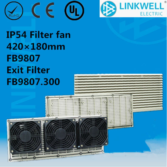 UL Anti-Firing ABS Big Power Axial Fan Filter with CE Certificate for Net-Work Cabininet/Infrastructure Control Cabinet/ (FB9807) pictures & photos