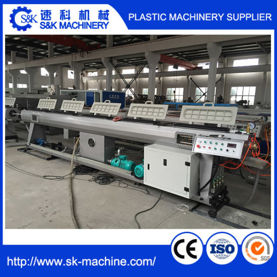 Plastic Extrusion Line for PE/PP/PPR Pipe pictures & photos