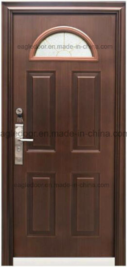 China Middle East Europ Usa French Tempered Glass Steel Door