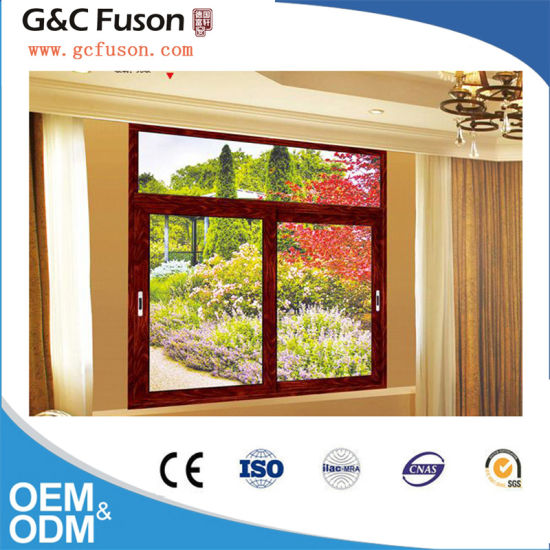 Two Track Aluminum Double Glazed Sliding Windows for Bathroom pictures & photos
