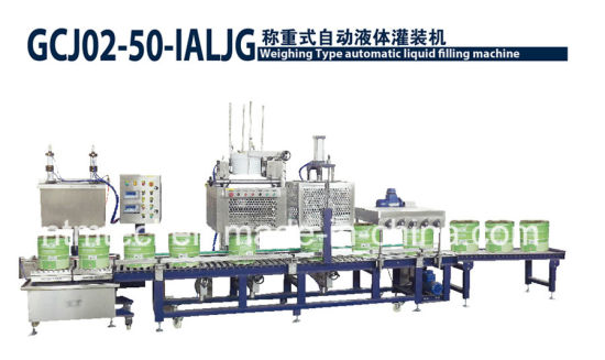 Full Automatic Weighing Type Filling Machine Line for 50kgs Paint, Ink, Glue, Chemical Packing