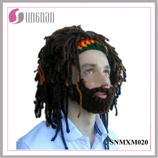 c6f5fcdc5b2 Handmade Wig Wool Hat Bearded Rasta Knitted Crocheted Hat pictures   photos