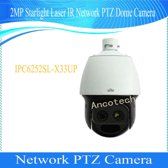 China Uniview 2MP Starlight Laser IR Network PTZ Dome Camera
