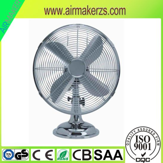 "High Quality Electric Metal 10"" 12"" Table Fan Desk Fan pictures & photos"