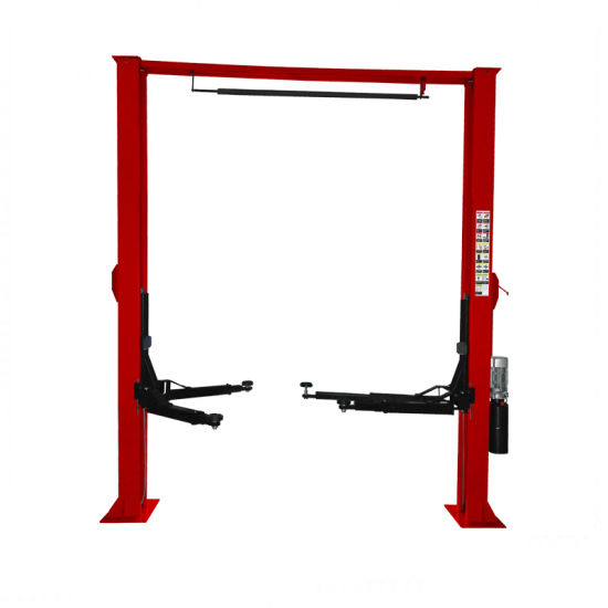 Clear Floor Two Post Car Lift Single Side Manual Release Auto Body Hydraulic Car