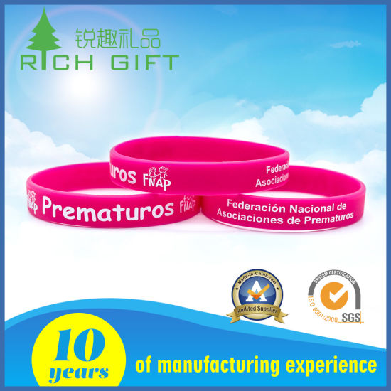 Sales Custom Cheap Tide Eco-Fashion Silicone Bracelet for Commercial Activity pictures & photos
