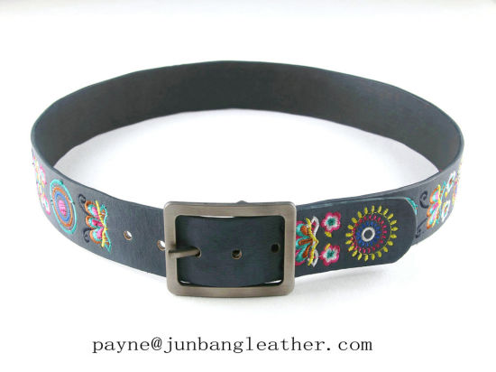 Women Fashion Embroidered Best Leather Belt
