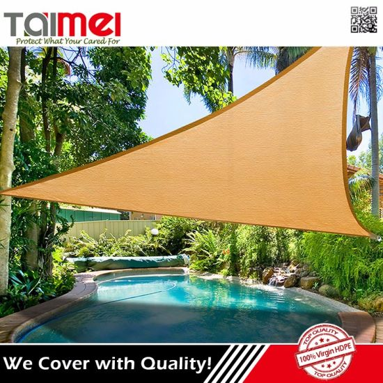 Outdoor Commercial Triangle And Rectangle Garden Pool Sun Shade Sail