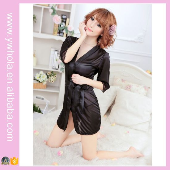 Factory Price Sleeping Lingerie Transparent Mature Women Sexy Lingerie pictures & photos