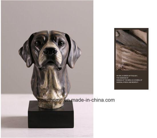 Dog Head Resin Animal Figurine Statue