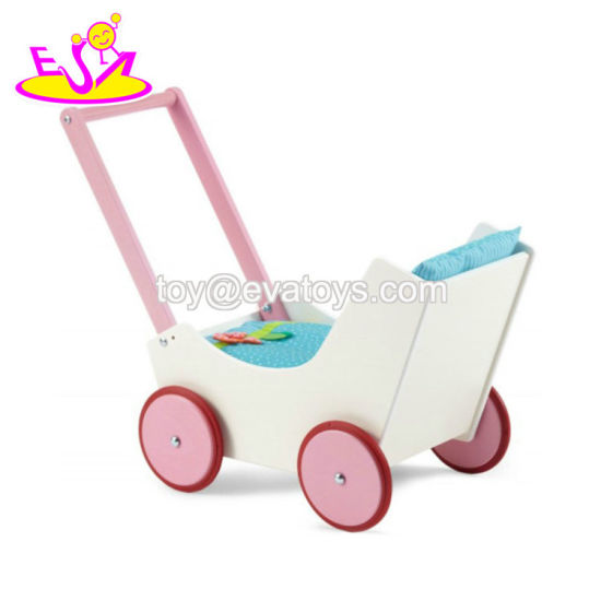 New Design White Wooden Toy Doll Stroller for Children W16e137 pictures & photos