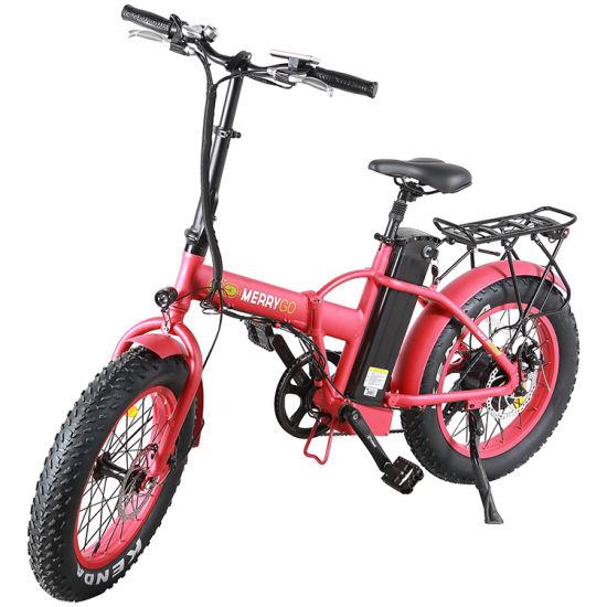 350W/500W Long Range Fat Tire 20 Inch City Adult Electric Foldable Bike