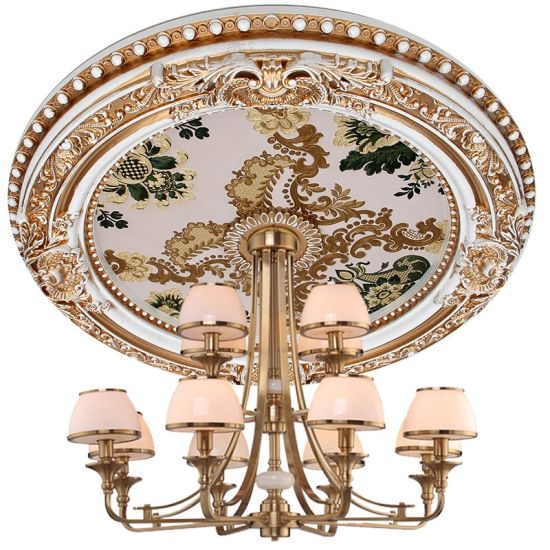 Painted Ceiling Medallion Chandeliers