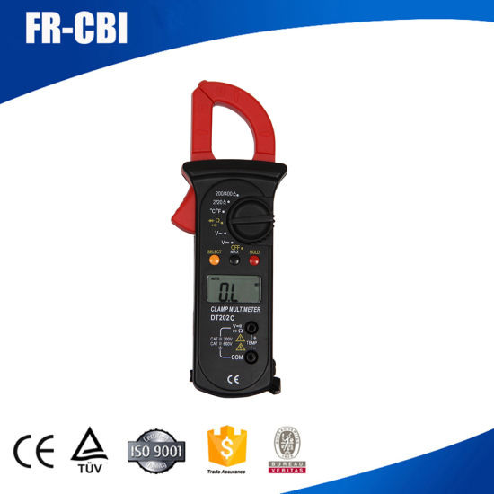 Digital Clamp Meter Dt202c with Temperature with Continuity with Buzzer Data Hold pictures & photos