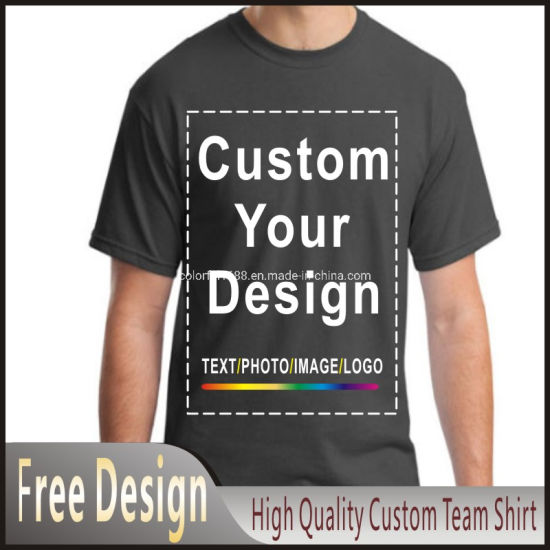 Customized Printing Apparel 100% Cotton Plain Tshirts Man′s Golf Custom Design Logo Tee Printed T-Shirt pictures & photos