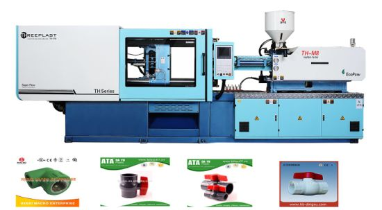 Horizontal Small Automatic Servo Energy Saving Plastic PE PPR PVC UPVC Pipe Fittings Injection Molding Moulding Machine