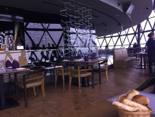 Revolving Restaurant Platform for Viewing The Urban Landscape