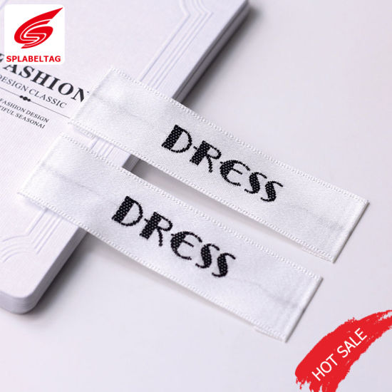 China Manufacturer Custom Clothing Satin Woven Label for Shoe