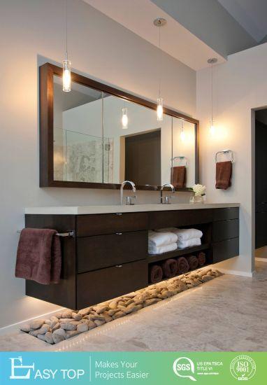 Wall Mounted Melamine Waterproof Vanity Bathroom Cabinet with Mirror Cabinet