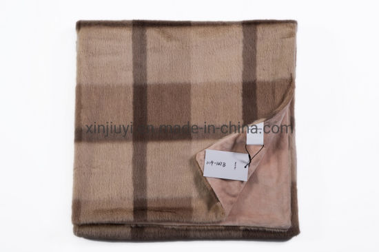 Double Layer Polyester Faux Fur Mink Wool Throws (019-147B) pictures & photos